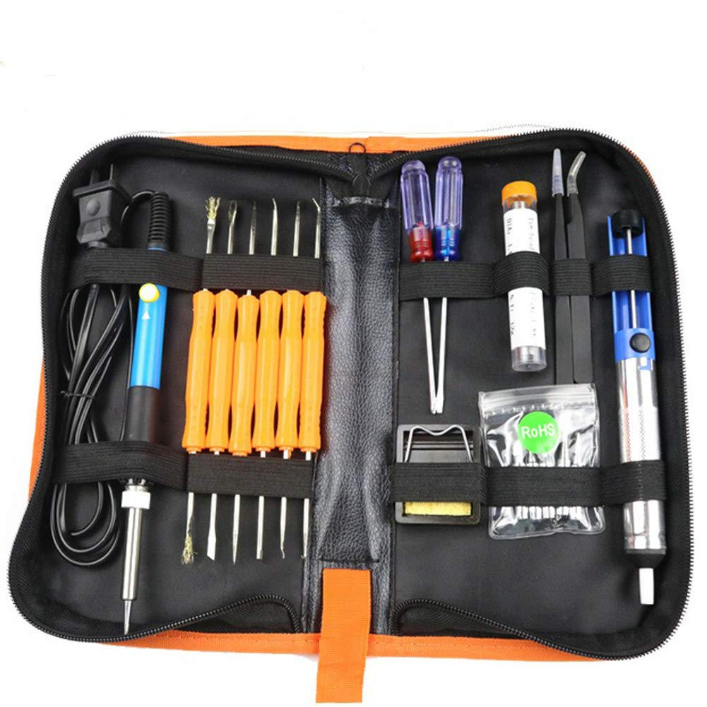 Ocamo 60W Electric Soldering Iron Tools Kit with Adjustable Temperature 806-110V [American standard plug] tool kit