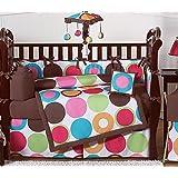 Deco Dot Modern Baby Girls Bedding 9 pc Crib Set by Sweet Jojo Designs