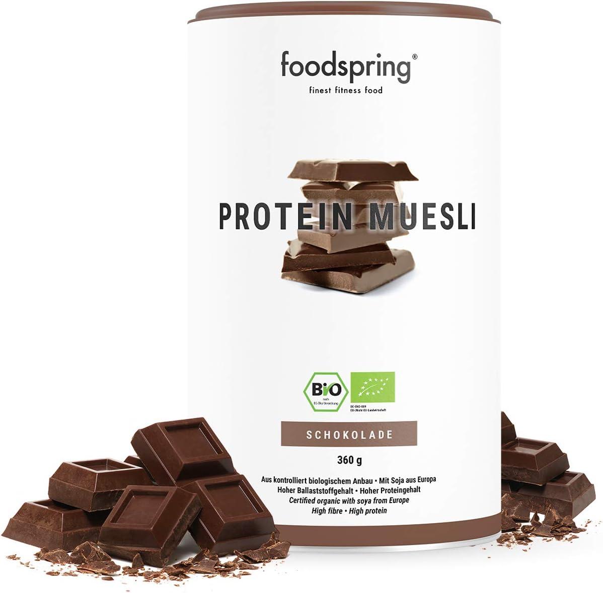 foodspring Muesli Proteico, 360g, Sabor Chocolate ...