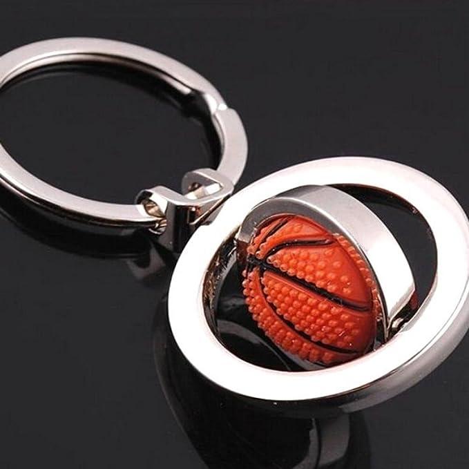CAOLATOR Llavero de Multifunción Creativo el Llavero Decoración del Coche/Teléfono Mochila o Bolsa de Equipaje Moda Accesorios -Baloncesto