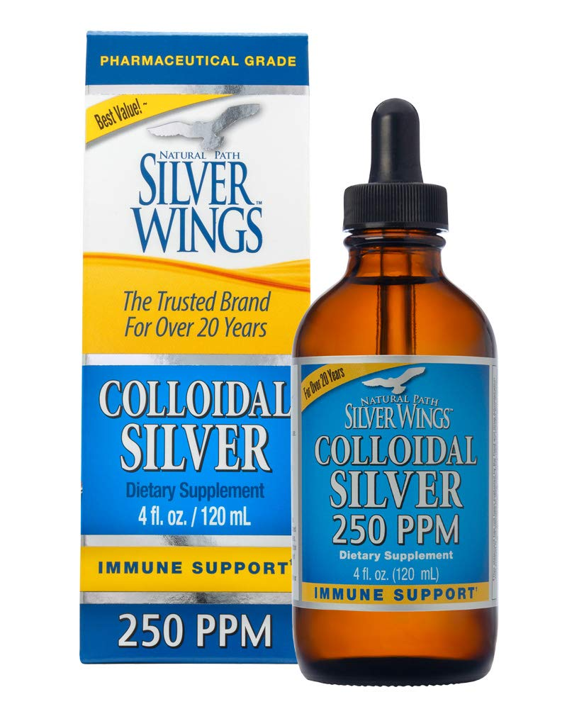 Natural Path Silver Wings Dietary Mineral Supplement, Colloidal Silver, 250 PPM, 4 Fl Oz