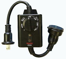 リーベックス(Revex) コンセント 光センサー付き タイマーコンセント CDS24