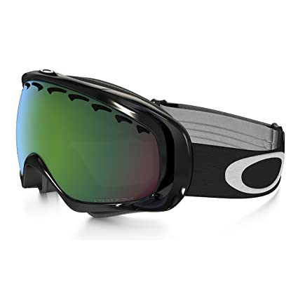 3b0bbcc50d Image Unavailable. Image not available for. Color  Oakley Crowbar Jet Black  Adult Prizm Asian Fit Winter Sport Racing Snowmobile Goggles ...