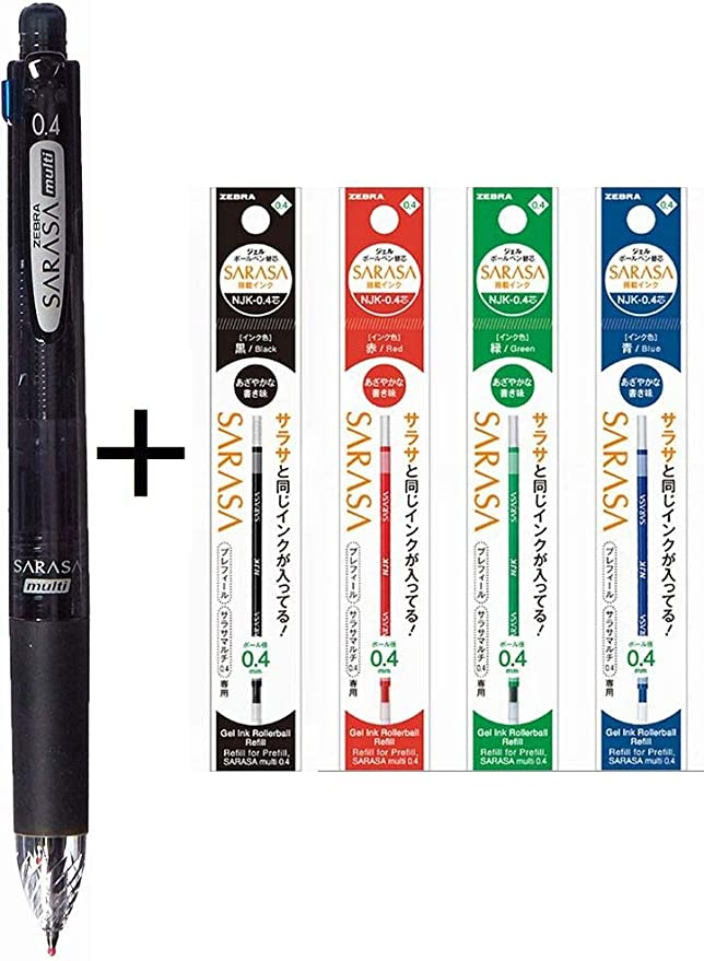 Mechanical pencil 0.4 PK B Sarasa Multi 4 color ballpoint pen