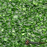 1 Pound Bag 1/4'' Electric Green Glass Pebbles