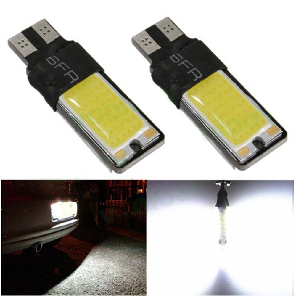Yosa 2pcs T10 LED 194 168 W5W COB Interior Bulb Light Parking Backup Brake Lamps Canbus No Error Cars xenon Auto Led Car