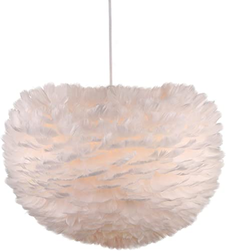 Newrays Nordic Modern Feather Pendant Light Fixture Creative Personality Art Lamp