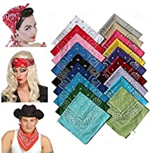 Head Wrap Bandanas Classic Paisley Bandana Scarf Headwraps for Men Women 22 inch