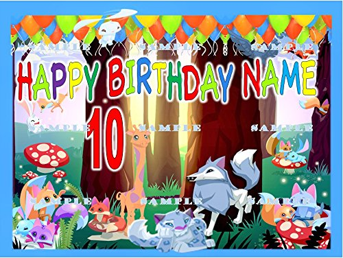 ANIMAL JAM : Personalized edible Birthday Party Cake topper decoration premium frosting sheets