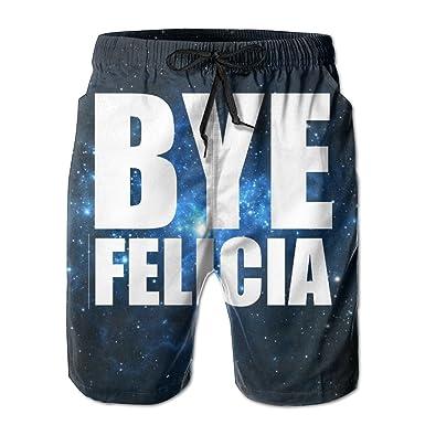 56d308bba2 Amazon.com: Helidoud Bye Felicia Mens Athletic Classic Swim Beach Shorts  with Pockets: Clothing