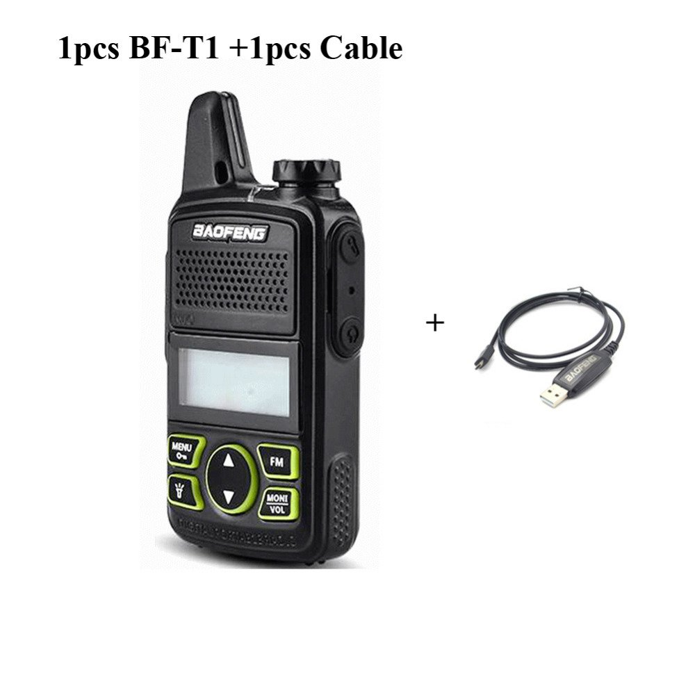 Original BAOFENG BF-T1 MINI Walkie Talkie UHF 400-470mhz Portable Two Way Radio Ham Radio Micro USB Transceiver+Programming cable
