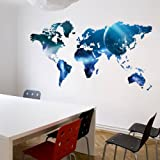 World Map Wall Sticker For Kids Rooms Decals Home Decor Decoration