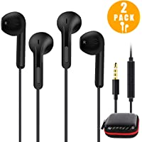 Honway Earphones Headphones, 2PACK Premium Earphones/Earbuds with Mic&Remote Control for iPhone, iPad, iPod, Samsung Galaxy, Sony, LG, Huawei, HTC, MP3 Players and More