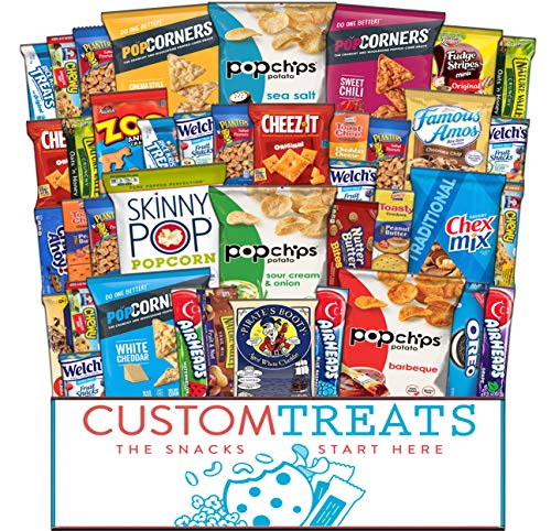 Ultimate Snack Assortment- Chips, Crackers, Cookies, Nuts, Bars - School, Work, Military or Home