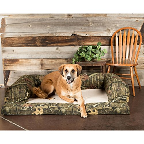Bolstered Premium Dog Bed Removable Washable Mossy Oak Camo Taupe Fleece Dry Cover Orthopedic Foam Mattress Includes Our Exclusive Mousepad (Extra Large) by H. Valley