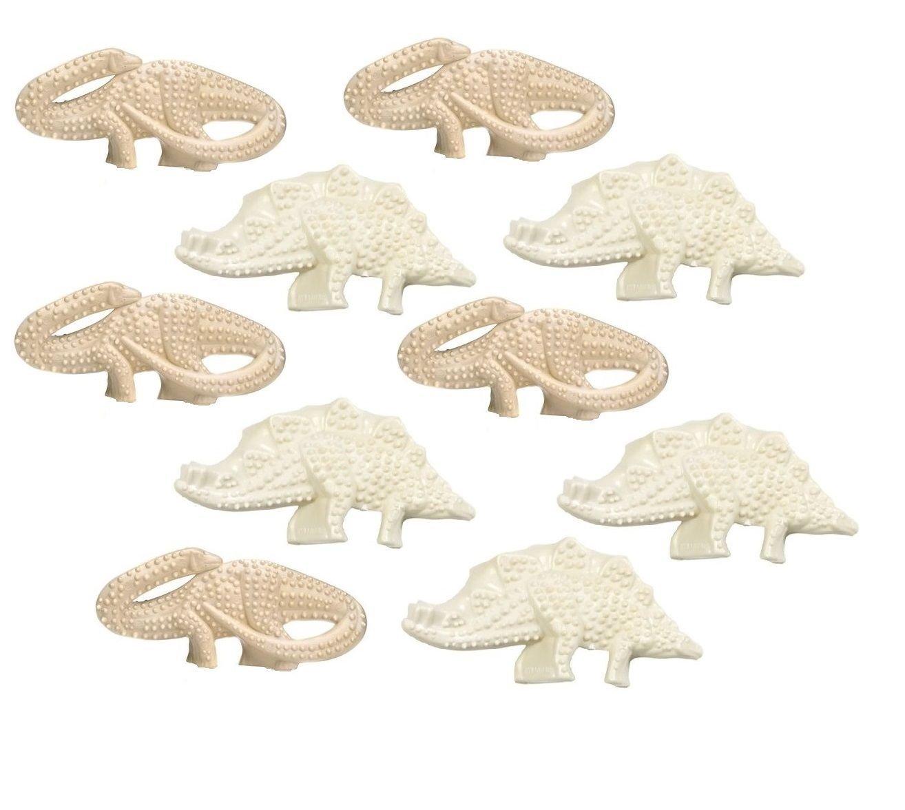 Durable Dental Dinosaur Textured Dog Chew Toy Stagosaurus Brontosaurus SET OF 2 (Five Two Packs)