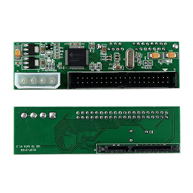 Tiamu 2 En 1 IDE A Sata//Sata A Adaptador IDE Convertidor Soporte Serial Ata 40Pin IDE Port Serial Ata Puerto Conector De Alimentaci/ón De 4 Pines