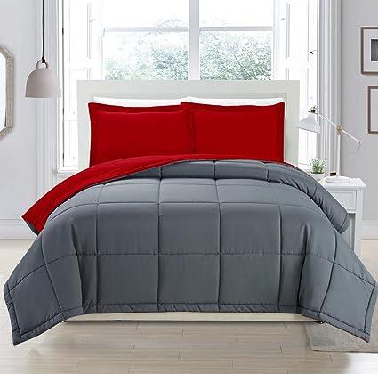 Amazon.com: Juego de ropa de cama con relleno alternativo a ...
