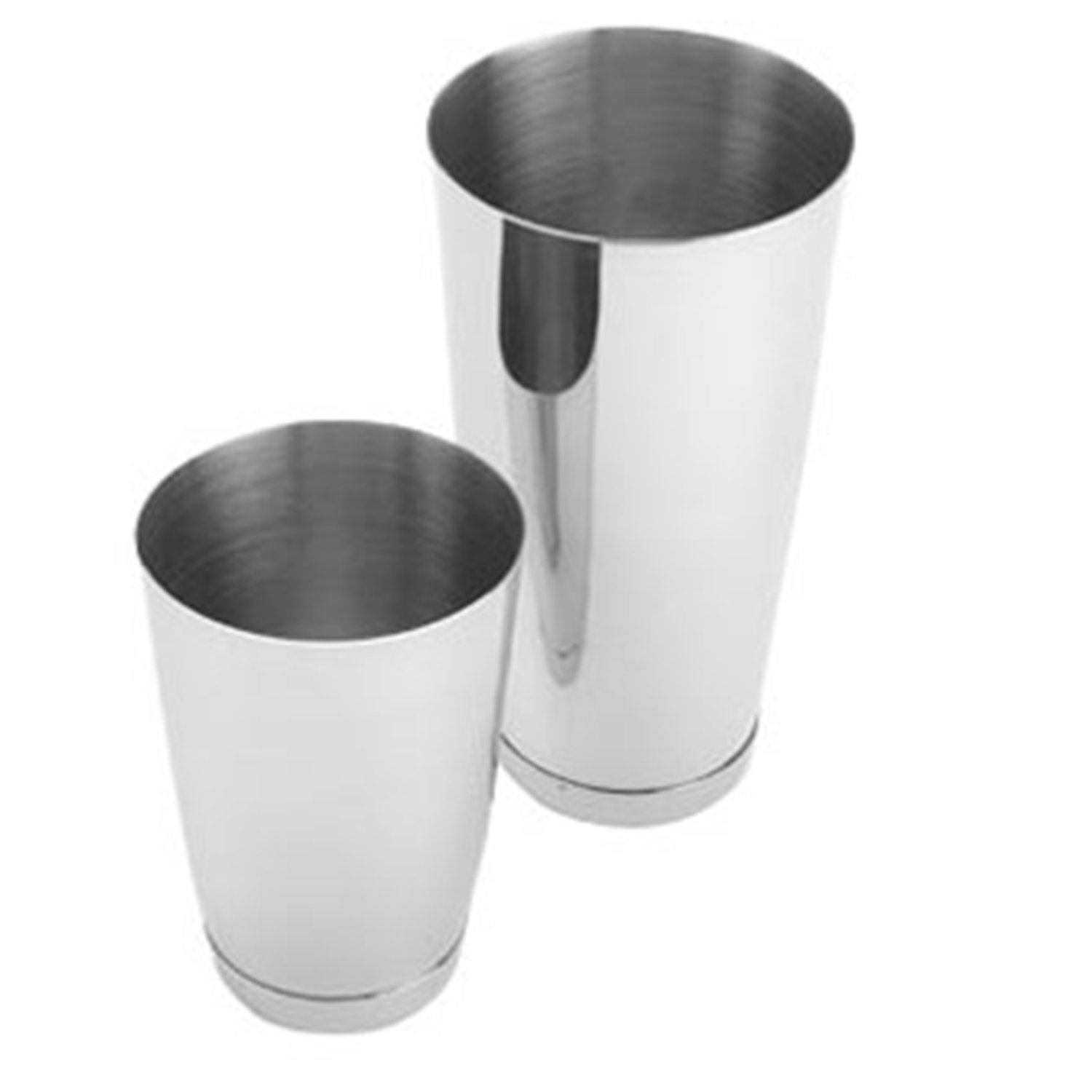 Cocktail Shaker Set of 2, Stainless Steel, 15 oz. and 30 oz. Heavy Weighted Shaker to keep Perfect balance