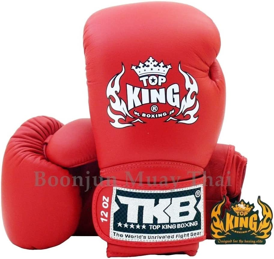 Top King Minejタイ式ボクシングTraning手袋tkbgsv レッド 14 Oz
