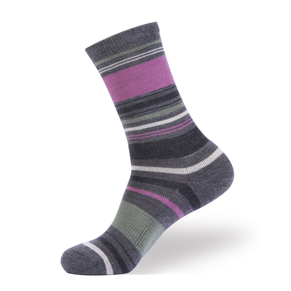 Enerwear 4 Pack Women's Merino Wool Outdoor Hiking Trail Crew Sock (US Shoe Size 4-10½, Violet/Gray/Multi) by Enerwear (Image #4)