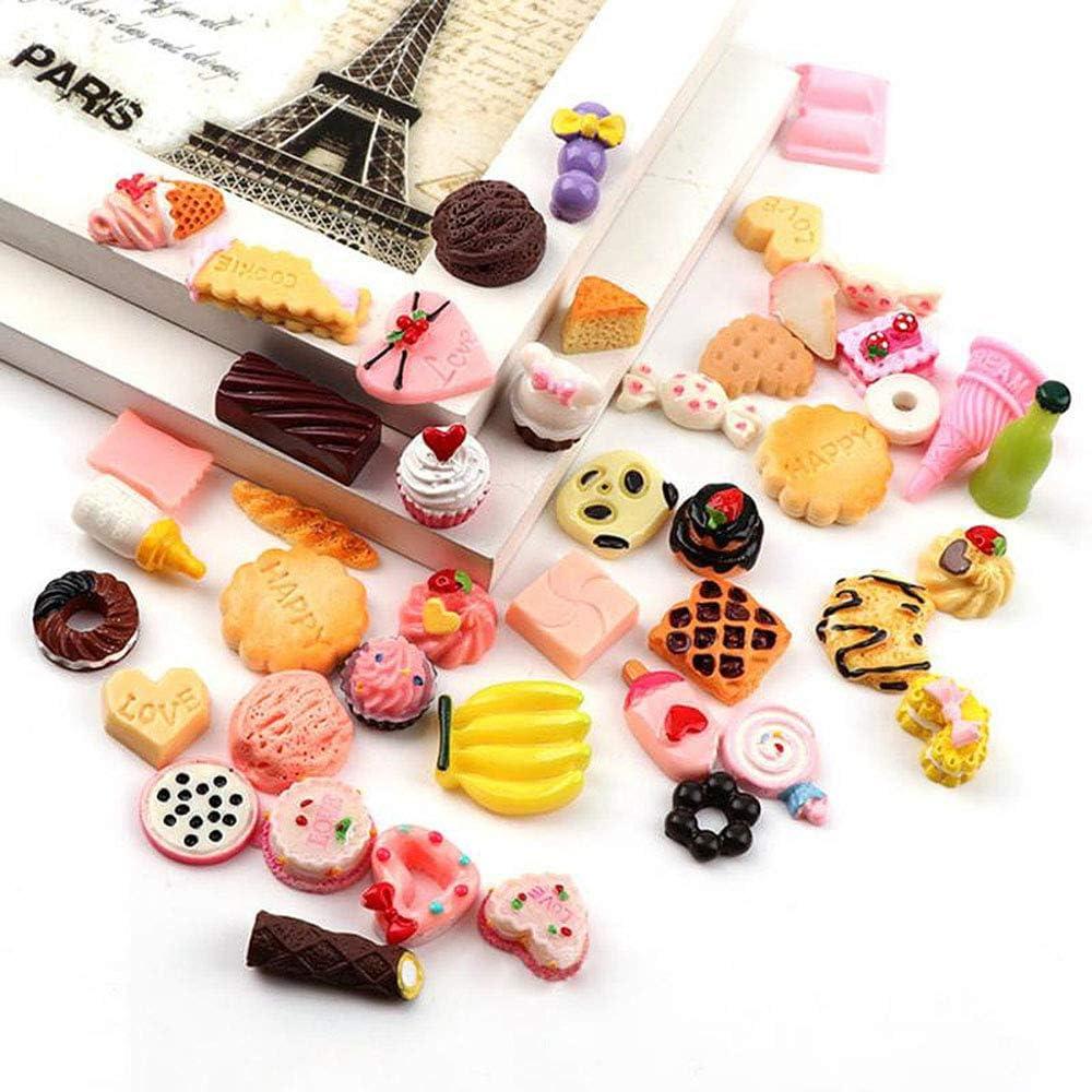Set of 10 Great ASSORTMENT Chocolate Lovers Delight Flatback Kawaii Cabochons Resins CharmsDIY CraftsDecodenSlime CharmsMiniature Candy