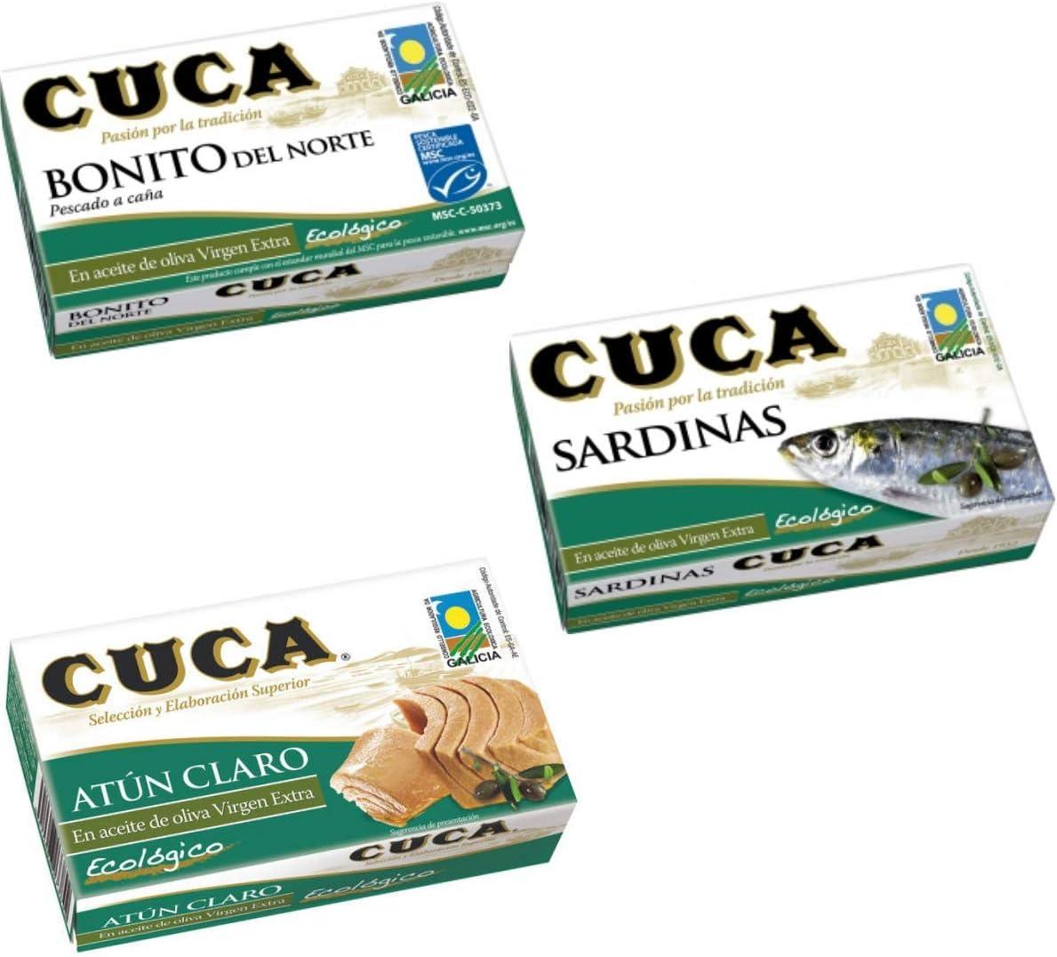 Conservas Ecológicas Cuca - Pack de 3 x 111g - Bonito del Norte ...