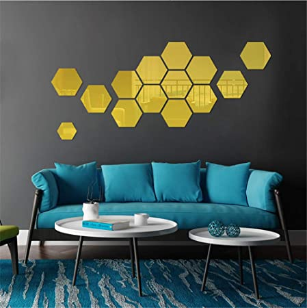 3D Mirror Effect Round Acrylic Wall Stickers Vinyl DIY Background Room Decor LI