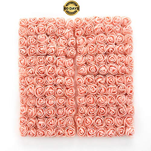 (Artificial Flower Bouquet Multicolor Rose Wedding Flower Decoration Scrapbooking Fake Rose Flower 144pcs 2cm Mini Foam Rose (Meat Pink) )