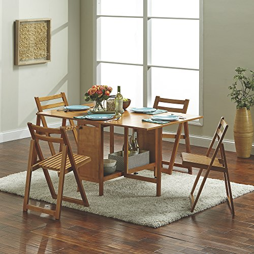14 Space Saving Small Kitchen Table Sets 2019: Kotula's 5-Pc. Space-Saving Dining Set