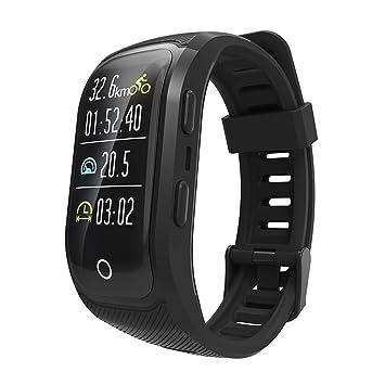 OOLIFENG Reloj Running con GPS, IP68 Impermeable GPS para Ciclismo Velocímetros con Pulsómetros para Al Aire Libre Aventurero,Black: Amazon.es: Deportes y ...