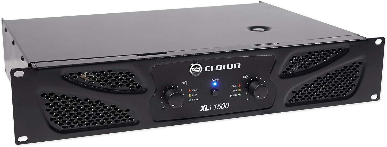 Crown Pro XLi1500 900w 2 Channel DJ//PA Amplifier Amp XLI 1500+AT Microphone