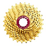 Image of Driven CSRZ 11-Speed Titanium-Nitride Spider Cassette with Lockring, 11-32T, Gold