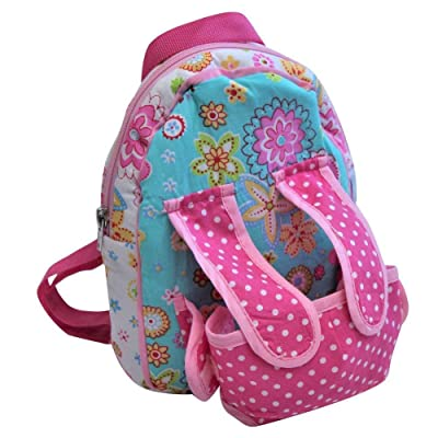 Baby Whitney Patchwork Calico Pink Doll Backpack Carrier: Toys & Games