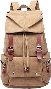 Boshiho® Unisex bolsa de lona mochila portátil estudiante de ...