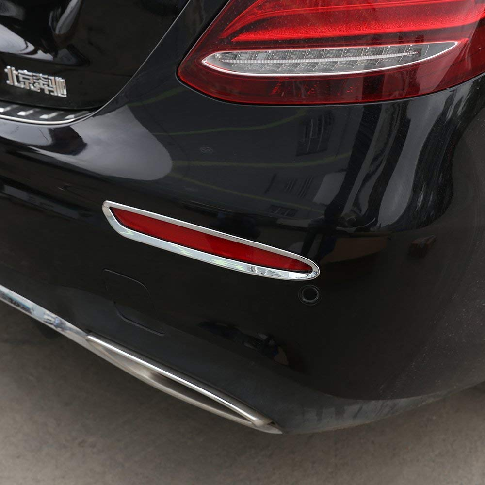 ABS Chrome Rear Row Tail Lamp Frame Trim for Mercedes Benz E Class W213 2016-2018