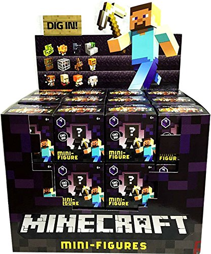 (Case of 36) Minecraft Collectible Figure Mystery Blind Box Obsidian Series 4