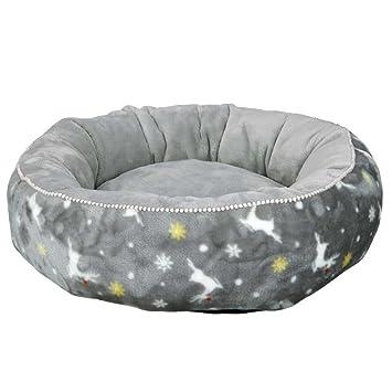 Trixie Xmas Cama Rudolf para Perro Gris diámetro 50 cm: Amazon.es: Productos para mascotas