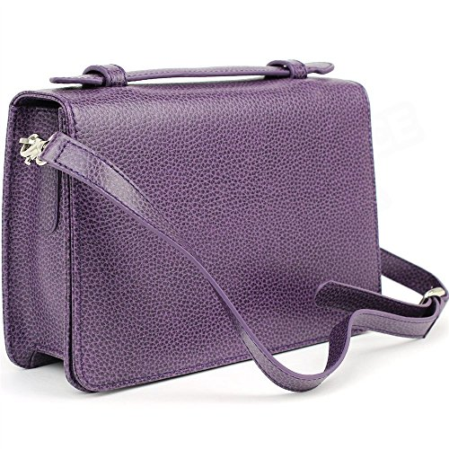 Grande Pochette Oslo Cuir Violet Beaubourg