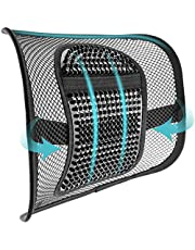 """ACVCY Lumbar Mesh Support for Office Chair or Car Seat, Breathable Comfortable Back Support for Office Chair Lumbar Support Cushion for Car Seats Office Chair Car Lumbar Cushion 12"""" x 16"""""""