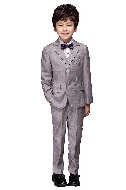 Yuanlu Boys Colorful Formal Suits 5 Piece Slim Fit Dresswear Suit Set YL-XZ