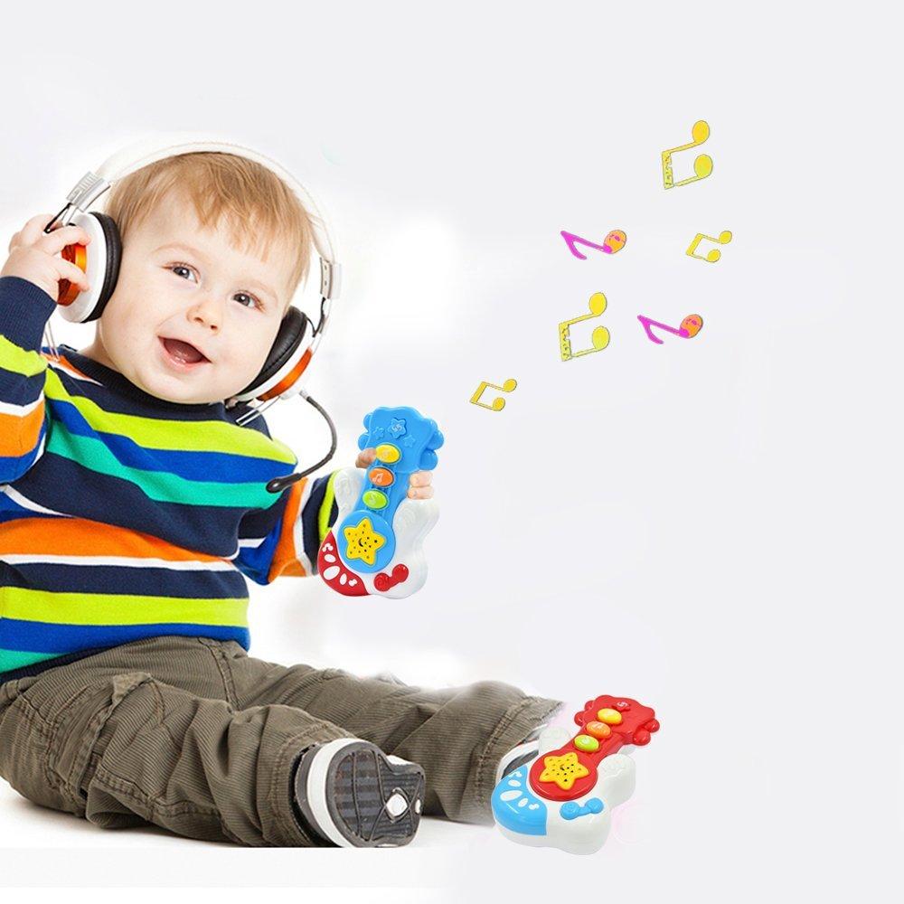Piano und Bongo Drums f/ür Babys ab 6 Monate Gitarre WEofferwhatYOUwant Mein Erstes Musikinstrumente Set