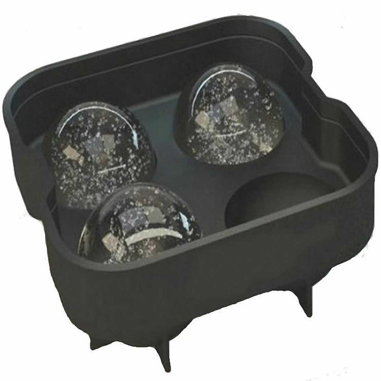 Froz Ice Ball Maker - Molde de silicona para hacer bolas de hielo con capacidad para 4 bolas de 4,5 cm: Amazon.es: Hogar