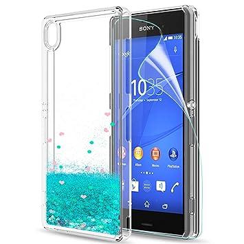 9aa55671603 LeYi Compatible with Funda Sony Xperia Z3 con HD Protectores de Pantalla, Silicona  Purpurina Carcasa