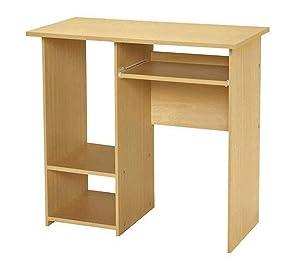 LAKDI Home Office Computer Study Desk/Table with CPU Box (121534146_Beech)