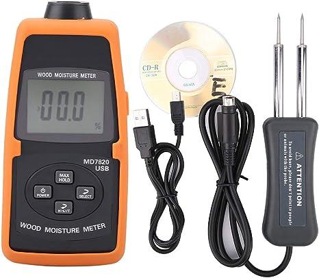 IGROMETRO Tester Misuratore di Umidità Digitale Termometro per Misurare il Legno