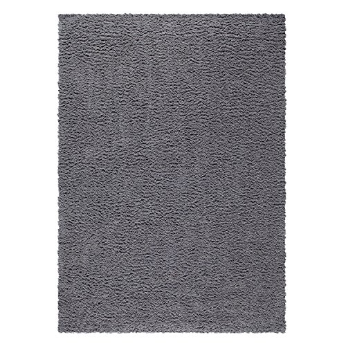 Area Rugs, Maples Rugs [Made in USA][Catriona] 5' x 7' Non Slip Padded Large Rug for Living Room, Bedroom, and Dining Room - Grey Funnel (In Grey Living Room Carpet)