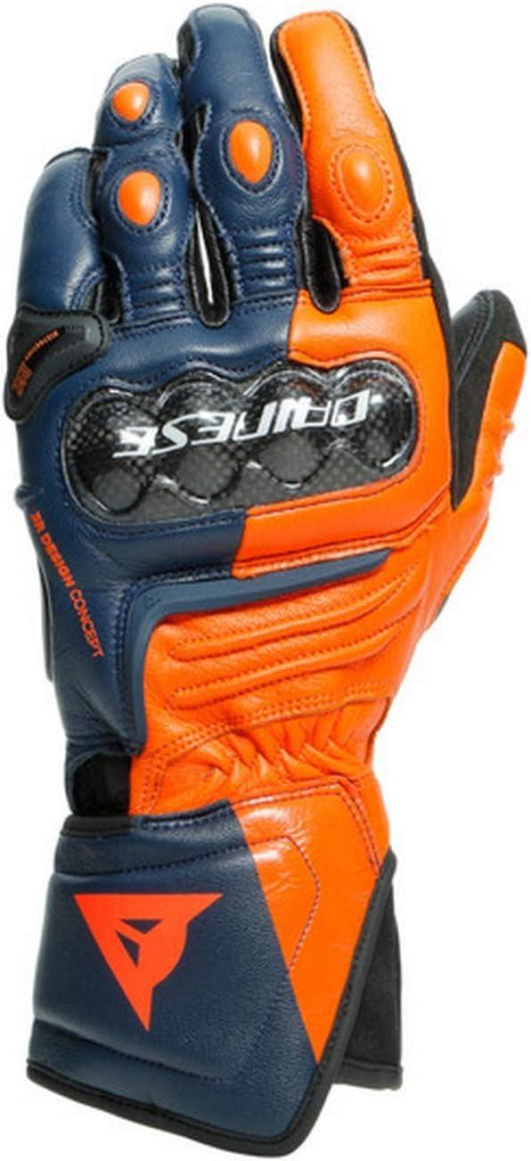 Dainese Carbon 3 Long Motorradhandschuhe Blau Orange M Auto