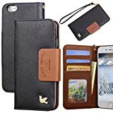 iPhone 6s Plus Case,[5.5inch],Wallet Case,Premium PU Leather&Soft TPU Back,Impact Resistant&Scratch-proof Credit Card Holder,Magnetic Flip Cover[Black]