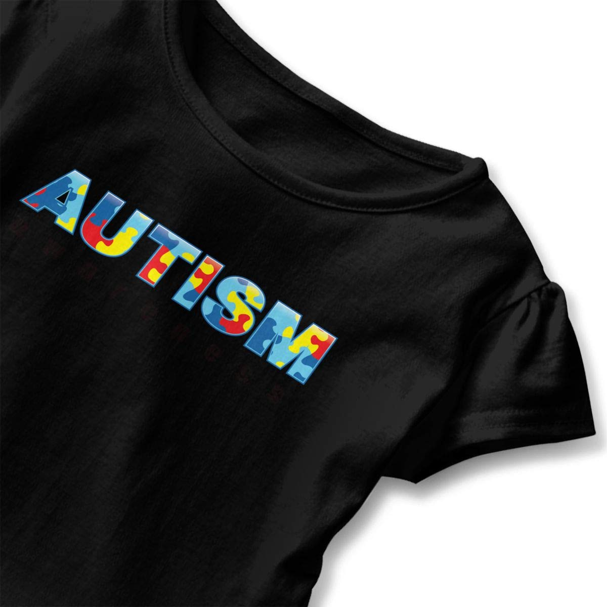 JVNSS Autism Awareness Shirt Fashion Baby Girls Flounced T Shirts Basic Shirt for 2-6T Baby Girls